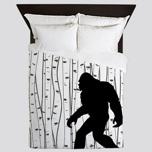 Bigfoot In Birch Queen Duvet